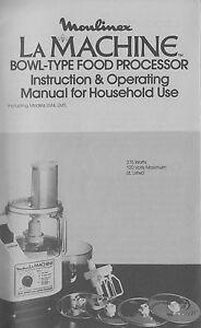 Moulinex la machine manual recipe 40 page book pdf lm4 lm5 image is loading moulinex la machine manual amp recipe 40 page forumfinder Choice Image