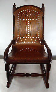 Details about ANTIQUE VICTORIAN CHILDS ROCKING CHAIR PRIMITIVE COUNTRY ...