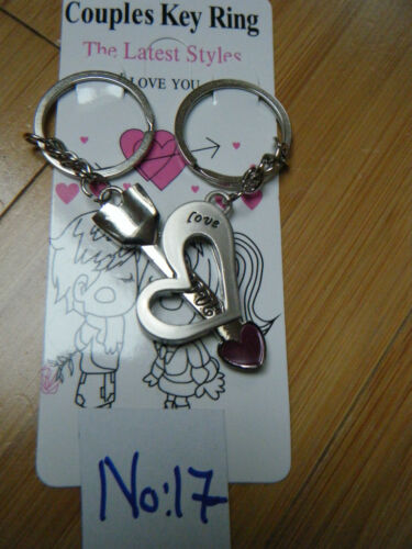 Designs Lovers set of 2 keyrings gift boxed I love you forever heart /& key 25