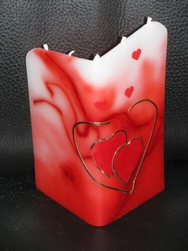 5-Docht-Kerze Design Love mit Herzen Geburtstag,Valentinstag Muttertag