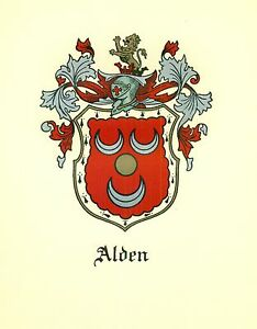 Great-Coat-of-Arms-Alden-Family-Crest-genealogy-would-look-great-framed