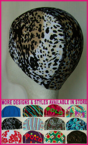 Kids 4 14 yrs LYCRA SWIMMING CAP LEOPARD PRINT Awesome Childs Swim Hat NEW