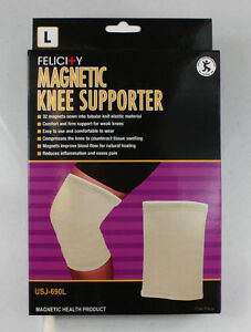 Felicity-Magnetic-Knee-Support-Supporter-Health-Beige-Knit-Magnets-Massage-Firm