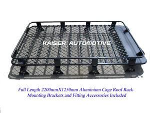 HD-Powder-Coated-Aluminium-Roof-Rack-Cage-for-Nissan-Patrol-GQ-GU-220cm-Length