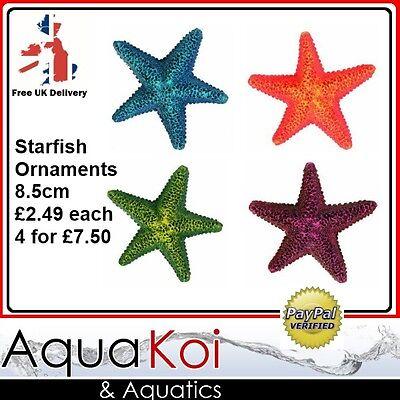 AQUARIUM STARFISH STAR FISH ORNAMENT DECORATION 8.5CM MIXED COLOURS