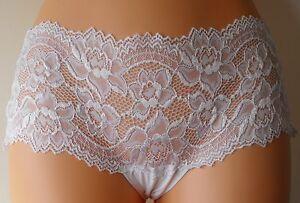 FaMouS-Store-M-S-Bandeau-Lace-Trim-Shorts-Pants-Knickers-Briefs-SIZE-8