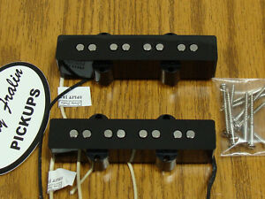 NEW-Lindy-Fralin-Split-Jazz-Bass-PICKUP-SET-Black-for-Fender-J-Bass