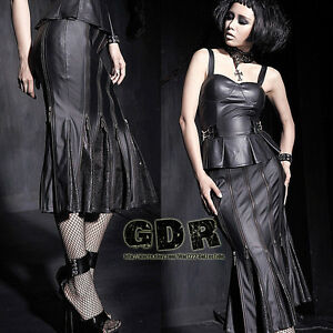 PUNK-HARD-KING-Q183-Cosplay-Gothic-JACKET-DARK-ZIP-MAXED-SKIRT-S-2XL