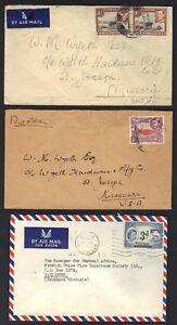 100% De Qualité L'ouganda Kenya Fauve Ganyika Nyassaland 1940-50s 3 Cvrs W / K.george Vi & Q.