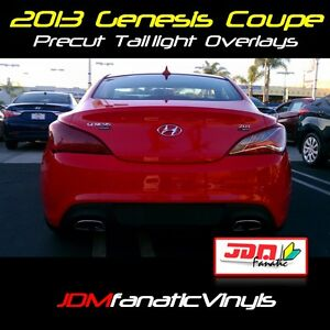 2013 13 genesis coupe redout tail light overlays red out jdm kdm tint vinyl film ebay. Black Bedroom Furniture Sets. Home Design Ideas