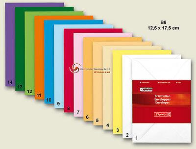 Brunnen Briefumschlag DIN B6 10 Stück Farbe wählbar Briefumschläge 12,5x17,5 cm