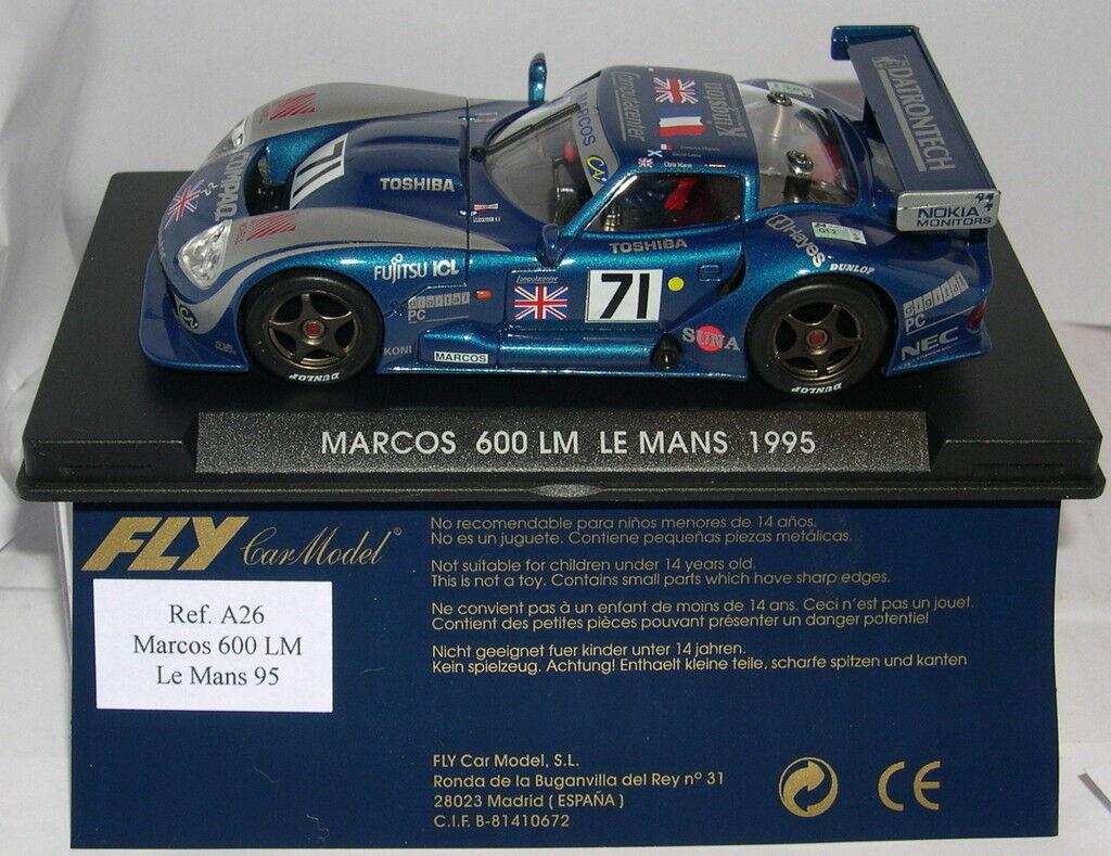 FLY A26 MARCOS 600 LM  71 LE MANS 1995 F.MIGAULT-D.LESLIE-C.MARSH MB