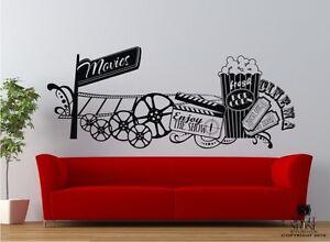 Wall decals movie montage home theater vinyl sticker art - Stickers cinema mural ...