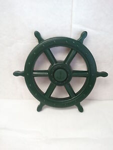 Captains-Wheel-Swingset-Accessory-Green-Playground-Swings-Steering-Wheel-Toy