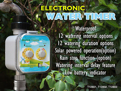T120 Greneds Electronic Water Timer (Ball Valve, Solar Charge & RainStop)