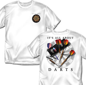It-039-s-All-About-Darts-White-T-shirt-Adult-Sizes