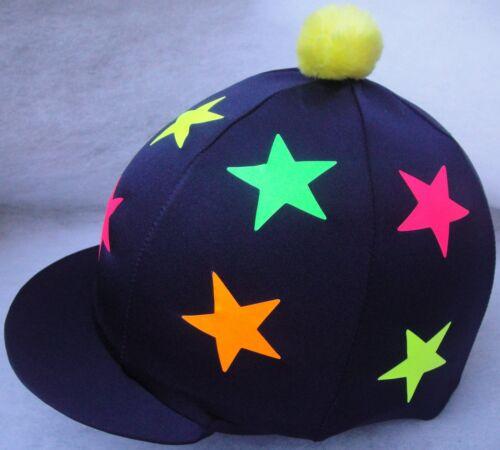 Fluorescent Étoiles Chapeau soie tête Cap couverture Bleu Marine Bleu Rose Jaune Orange Lime