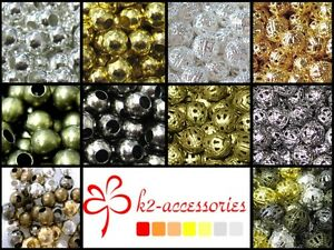400-x-4mm-200-x-6mm-100-x-8mm-50x10mm-Metal-Spacer-Beads-Various-Colour