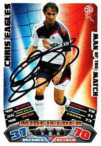 Bolton-Wanderers-F-C-Chris-Eagles-Hand-Signed-11-12-Match-Attax-MOTM