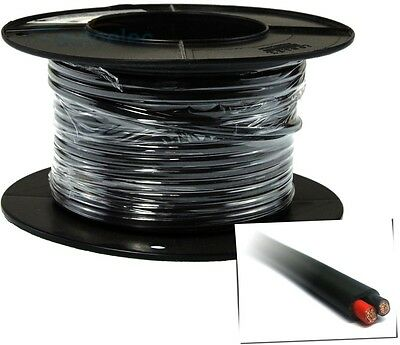 4MM TWIN CORE CABLE x 10 METRE ROLL 10M SHEATH WIRE DUAL BATTERY 12V 2