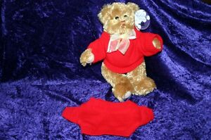 TEDDY-BEAR-doll-RED-JUMPER-fits-12-034-clothes-dressing