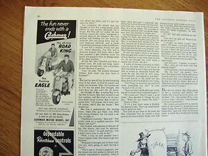 1958 Cushman Ad Eagle & Road King