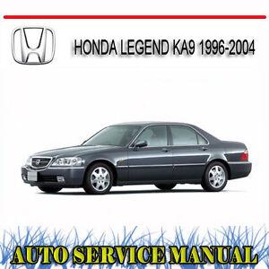 honda legend ka9 1996 2004 repair service manual dvd ebay rh ebay com au honda legend ka9 service manual download honda legend ka9 service manual