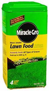 Miracle Gro Grow Lawn Yard Grass Turf Nitrogen Iron Food Fertilizer 5 Pound Ebay