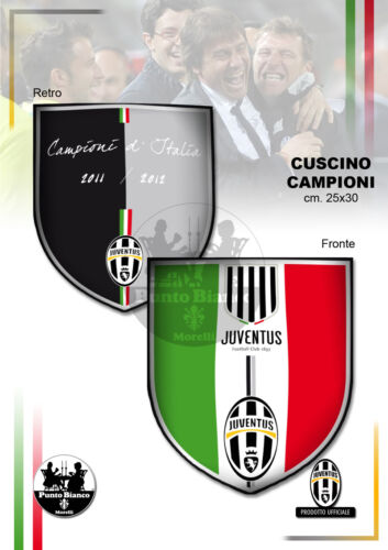 """JUVENTUS. Cuscino """"Campioni"""" double face - Cushion """"Champions"""" double face"""