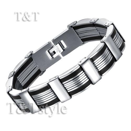 ELEGANT T&T 316L Solid Stainless Steel Bracelet BBR126