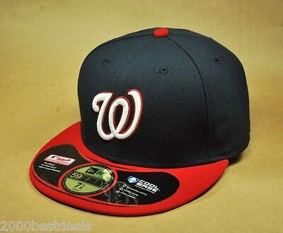 NEW ERA HAT ON FIELD 59FIFTY CAP WASHINGTON NATIONALS ALTERNATE PLAYER NAVY RED