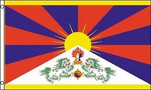 Flag-of-Free-Tibet-3x5-ft-Banner-Tibetan-Independence-Dalai-Lama-Snow-Lion-NEW