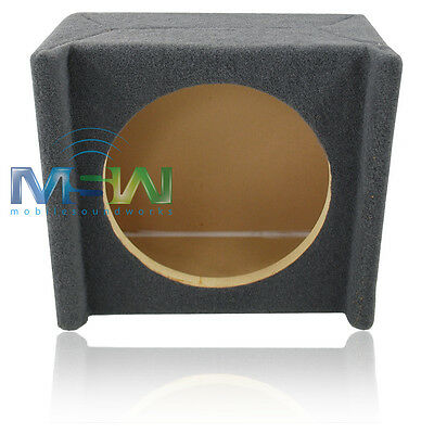 """SINGLE 10"""" MDF UNDERSEAT DOWNFIRE SHALLOW-MOUNT CAR SUB WOOFER ENCLOSURE BOX NEW"""