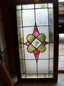 Textured-Beveled-center-diamond-Stained-glass-cluster-window-SG-1121
