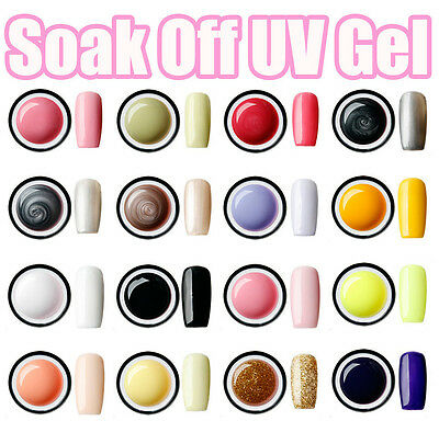 15ml Fashion Colorful Nail Art Soak off UV Gel Glitter Polish Nail Tips