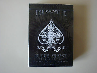 INVISIBLE BLACK GHOST BICYCLE DECK 2ND EDITION PLAYING CARDS GAFF MAGIC TRICKS