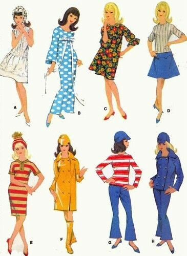 "VINTAGE 11.5"" FASHION DOLL CLOTHES PATTERN FITS BARBE, FRANCIE DOLLS 8531"