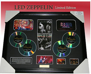 ON-SALE-LED-ZEPPELIN-4CD-MEMORABILIA-SIGNED-FRAMED-LIMITED-EDITION-TO-499-COA
