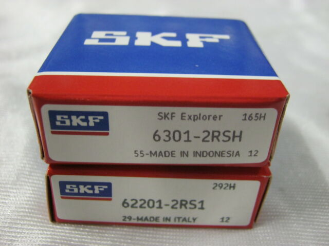 KIT CUSCINETTI DINAMO SKF ORIGINALI FIAT 500 126 62201/2rs+6301/2rs