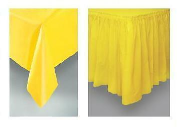 TABLECOVER - TABLECLOTH - TABLESKIRT - TABLE COVER CLOTH SKIRT CLIPS - PARTY  !!