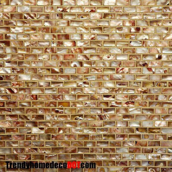 Sample- Copper Shell Mosaic Tile Kitchen Backsplash Bath Wall Sink Spa