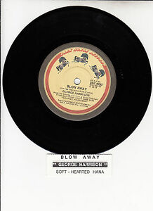 GEORGE-HARRISON-Blow-Away-Soft-Hearted-Hana-BEATLES-7-45-rpm-vinyl-record