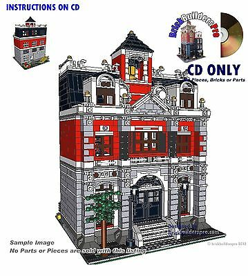 CD Elementary School, modular Instructions CD PDF Book Custom Lego city #24