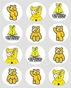 Pudsey Bear Edible Cake Toppers