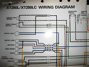 yamaha xt250 wiring diagram yamaha oem factory color wiring diagram schematic 1984 ... 2003 yamaha cdi wiring diagram