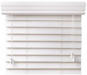 Image Is Loading Value Priced Faux Wood Window Blinds White Free