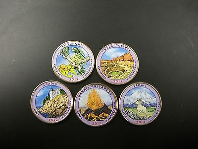 2012 Complete Set of Colorized Quarters