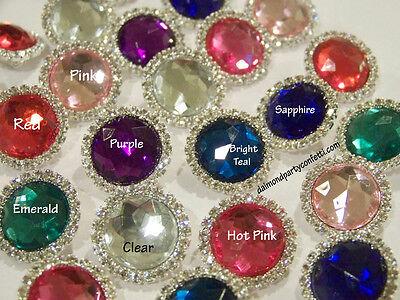 Set of 4 Rhinestone Diamond Gem Brooches Wedding Favor Pin Decoration Item#15