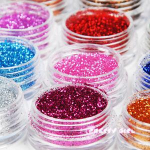 12-Metal-Color-Acrylic-Glitter-Nail-Art-Tool-Kit-UV-Gel-Powder-Dust-tip-1003