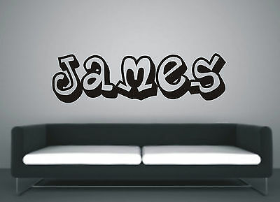 Personalised Graffiti wall art sticker name - style A, any name avalible